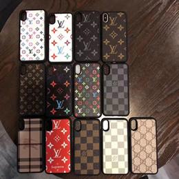 6fe1ebc81b1 Para iPhone X XS Max XR 8 7 6 Plus TPU Funda de cuero elegante de PU para  el teléfono Estuches de patrón de lujo Cubierta para Samsung Galaxy S10 S9  S8 Nota ...