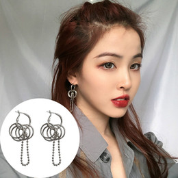 silver jewelry dropship NZ - 2019 Punk Multi-layer Circle Hoop Earrings Handmade Silver Hiphop Hoop Earrings Trending Rock Jewelry Hot Hoops Dropship Gifts