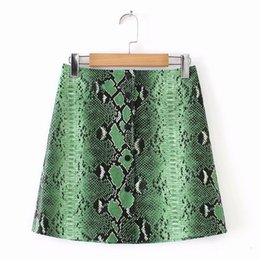 Faux red leather skirts online shopping - Skirts For Women Mini Skirt Green Snake Womens Print Able To Fake Leather Plus Size Women Summer Pencil Skirt Woman Faldas Women