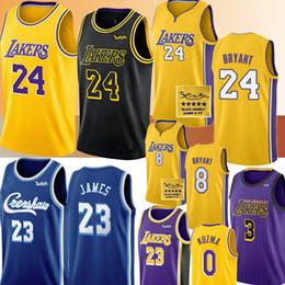 Wholesale Mens Bryantjersey Los AngelesLakers Jersey NCAA LeBron 23 James Anthony 3 Davis Kyle 0 Kuzma Basketball Jerseys