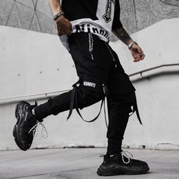 cotton club costumes 2019 - 2019 new spring hip hop pants club singer stage costume trousers Ribbons streetwear joggers sweatpants ABZ256 discount c