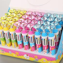 Pen Big Australia - 2019 Cute Fashion Luxury Big Diamonds 8 Colors Pen Novelty Cartoon Press Roller Ballpoint Pen Office & School Supplies
