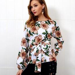 Kimono Tshirt NZ - Women tshirt Long Sleeve Floral Bowknot Tops Ladies Summer Casual Kimono T-Shirts Casual O neck Women Tops Fashion