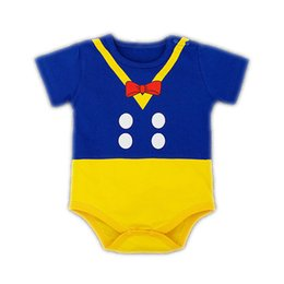 V Cute Jumpsuits Australia - New Design Cute Baby 100% Cotton Cartoon Bottom Triangle Rompers One-piece Baby Boy Girl Clothes Toddler Jumpsuits For Kid HB065