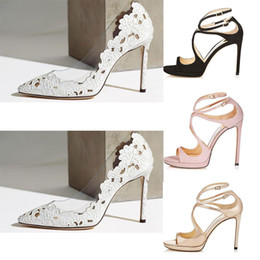 Lace up styLe sandaLs online shopping - With box Women Designer Sandals So Kate Styles Fashion Luxury girl high heels CM CM LANCE black pink white Silver Leather size