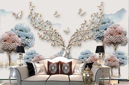$enCountryForm.capitalKeyWord Australia - Custom Mural Wallpaper For Walls 3D StereoscopicRelief forest elk Bedroom TV Background Home Wall Decoration Paintingr