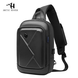 $enCountryForm.capitalKeyWord NZ - ARCTIC HUNTER Men's Chest Shoulder Bag Casual Messenger Bag Business Travel Sports Multi-function Pack Hard Shell USB Charging