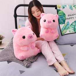pig stuff toys Australia - 1pc Lovely Fat Round Pig Plush Toy Kawaii Animal Pink Pig Dolls Stuffed Toys For Children Soft Pillow Girls Xmas Valentine Gift Y19062704