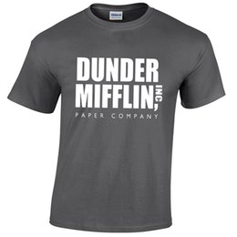 China DUNDER MIFFLIN MENS T SHIRT FUNNY THE OFFICE GIFT Funny free shipping Unisex Casual top supplier office t shirts suppliers