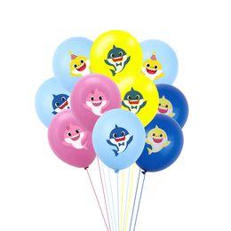 $enCountryForm.capitalKeyWord Australia - Baby Shark Cartoon Balloons Latex Inflatable Balloon Children Kids Birthday Party Props Supply Wedding Decoration Gift Toys Hot C71104