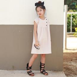 $enCountryForm.capitalKeyWord NZ - New Year Baby Button Cinderella Children For Girls Leisure Infant Cotton Summer Dress Wedding Dresses