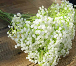wholesale fake flowers shipped free Australia - 100Pcs lot Gypsophila silk baby breath Artificial Fake Silk Flowers Plant Home Wedding Party Home Decoration free shipping