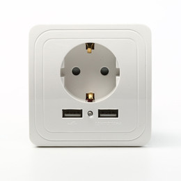Power Socket Eu Australia - EU Plug 2-Ports USB Safety Wall AC Power Socket Charger Station Outlet Jack for Home Household