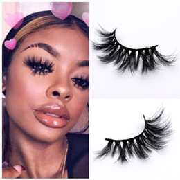 Discount l curl eyelash 25mm 3D Mink Eyelashes Criss-cross False Eyelashes Cruelty Free Volume 100% Real Mink Lashes Dramatic Eye lashes Extensions Makeup Tools