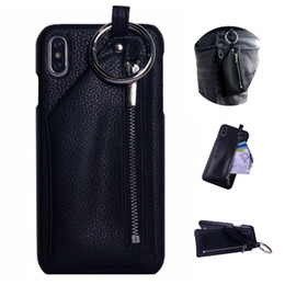 Iphone Wallet Buckle Case Australia - For iPhone Xs Max Wallet Case Xr X 8 Plus 7 Plus 6 6s Leather Cover Buckle O Ring Zipper Pocket Bag Stand