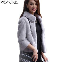 White Faux Fur Shorts Australia - WSYORE Fashion Autumn Faux Fur Coat 2018 New Winter Warm Jacket Long Sleeve Short Coats Women Fur Jackets Rhinestones NS209