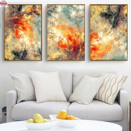 $enCountryForm.capitalKeyWord Australia - Triptych 5D DIY Diamond Painting new Modern abstraction Diamond Embroidery Full Square Mosaic Cross-Stitch kit Wall Art Pictures