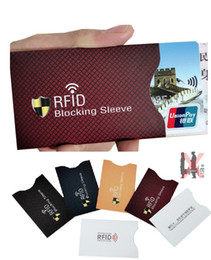 card protector sleeves wholesale Australia - Coated Paper Aluminum Foil Card Sleeve Anti-rfid Anti-scanning anti-magnetic Shielding Card Holder Anti-nfc Anti-theft Security Protector