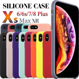 Wholesale For iPhone X silicone case Liquid Silicon rubber Cases with retail boxes For iphone x S Plus SE