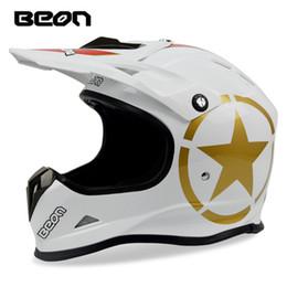 CasCo helmets moto online shopping - BEON motocross helmet Professional Downhill mountain bike helmet off road Dirt bike racing ECE approved moto casco