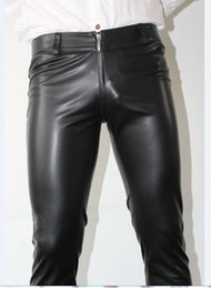 Back Hair Men Australia - 2018 New men's clothing Hair Stylist GD Original Front and back zipper Tight stretch leather pants stage Singer