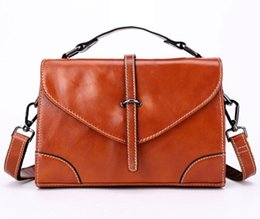 Fashion handbag women s single shoulder bag oil wax head layer cowhide lady  handbag vintage leather female BaoXiaoFang bags single shoulder 132392bbf5