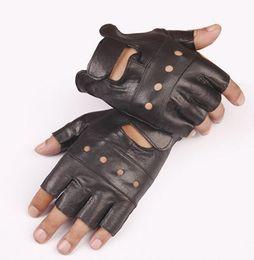 $enCountryForm.capitalKeyWord NZ - Goatskin half finger gloves leather half finger leather half finger fitness All black sheepskin four hole gloves hole section
