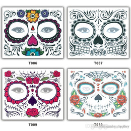 $enCountryForm.capitalKeyWord NZ - Christmas Toy Halloween Party Facial day of the dead faced tattoo masquerade ball must pretty tattoo sticker waterproof