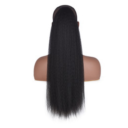 high hair buns 2019 - Women Kinky Straight Synthetic High Puff Bubble Seamless Afro Long Hair Extensions Wigs Ponytail Clip In Drawstring Head