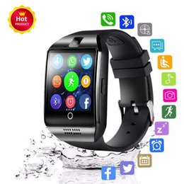 $enCountryForm.capitalKeyWord NZ - Smart Watch Q18 with Touch Screen camera sim card TF card Bluetooth NFC Wireless Connection smartwatch for Android and IOS Phone retail Box