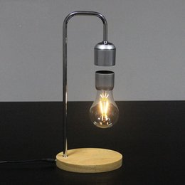 unique gifts toys Australia - Magnetic Levitating Floating Wireless Bulb Desk Lamp for Unique Gifts Room Decor Night Light Home Office Desk Tech Toys