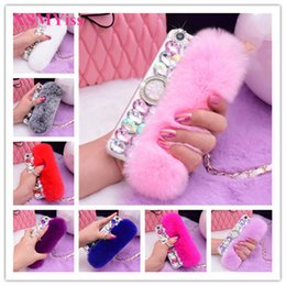 $enCountryForm.capitalKeyWord Australia - Diamond Real Rabbit Fur Gem Ring Buckle Soft Cover Case For Samsung S5 S6 S7 S8 S9 Plus N 3 4 5 8 9 Top Luxury Bling Rhinestone