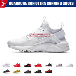 Sneakers Run Red NZ - Huarache run Ultra running shoes for Men Women Triple Black White Red Breathable Mens Trainer Fashion Sports Sneakers Runner size 36-45