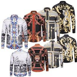 Bamboo Mens Shirt Australia - Send free 2019 New Luxury Designer Mens Long sleeve Brand Printed Shirt 3D Floral prints long sleeve Long Sleeve Medusa Casual Shirts