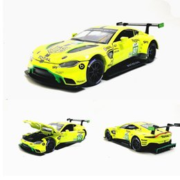 $enCountryForm.capitalKeyWord UK - 1:32 Scale Aston Martin Vantage GTE Le Mans Diecast Metal Toy Model Pull back Sound Light Racing Car Educational Collection SH190910