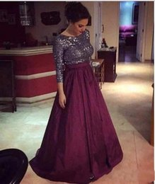 Line navy bLue mother bride dress online shopping - Formal Silver and Burgundy Mother Of The Bride Dresses Bling Bling Sequined Sleeves Formal Mother of Groom Dresses Evening Dresses
