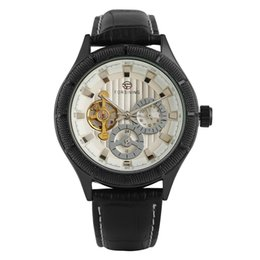 $enCountryForm.capitalKeyWord Australia - Creative Calendar Dial Luminous Hands Wristwatch Casual Tourbillon Automatic Mechanical Watch Black Leather Band Watches for Men