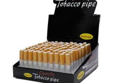 Vente en gros Tuyaux de tabagisme de forme de cigarette Tuyaux en métal d'alliage d'aluminium 100pcs / boîte 78mm tuyaux de longueur de 55mm tabac de frappeur pour fumer