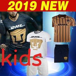b3e4e1f7e72 19 20 MEXICO Club LIGA MX Universidad Nacional Soccer Jersey 2018 2019 UNAM  third child Football Shirt HACHITA SOSA Football Uniforms
