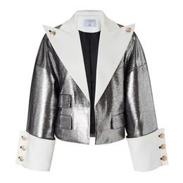 $enCountryForm.capitalKeyWord Australia - Womens leather jacket fashion leather large lapel simple shorts motorcycle clothing personality loose jacket female
