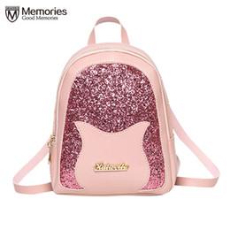 46aa41fff75a 2019 женская кожаная кошка рюкзак детский рюкзак мини женщины симпатичные  рюкзак рюкзаки для девочек-подростков маленькая сумка