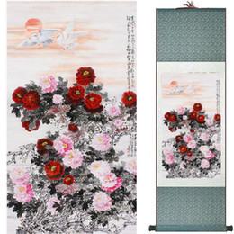 traditional chinese paintings Australia - Traditional Silk Art Painting Birds And Water Lily Chinese Art Painting Home Office Decoration Chinese Painting2019071922