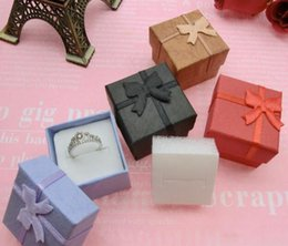 $enCountryForm.capitalKeyWord Australia - 2019 Wholesale 50 Pcs  lot Square Ring Earring Necklace Jewelry Box Gift Present Case Holder Set