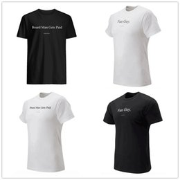 Discount logo t shirt top brand - Board Man Gets Paid mens designer t-shirts Kawhi 2 Leonard Fun guy Fans Tops Tee Black White printed brand logos Basketb
