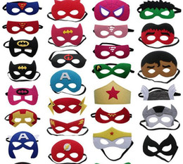$enCountryForm.capitalKeyWord NZ - 27 style halloween kids Avengers mask superman spiderman Marvel DC face mask for boys girls party costumes cosplay props children gift
