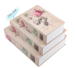 Book Money Australia - Rose Simulation Books Hidden Storage Box Key Money Jewelry Retro Brown Creative Coffer Car Steel Plate Store Boxes 19 5skD1
