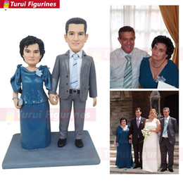 Wedding Figures Australia - couple wedding anniversary figurine home decor trend outlet mini statue collections styles polymer clay art figure by Turui Figurines