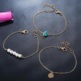 Disc Bracelet Australia - Fashion disc pine stone Pearl combination set Bracelet pendant For Women Brand girlfriend boyfriend gift crafts dinner accessories