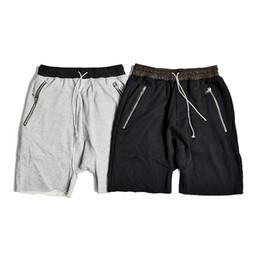 justin bieber clothing style 2019 - 2019 men hip hop casual shorts summer kanye style clothing loose sports black grey shorts justin bieber harem fear of go