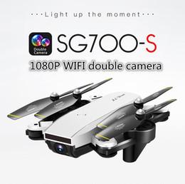 Quadricoptère RC à moteur à brosse 4 canaux LeadingStar SG700-S avec caméra 1080P Wifi FPV Selfie pliable drone blanc hélicoptères RC en Solde